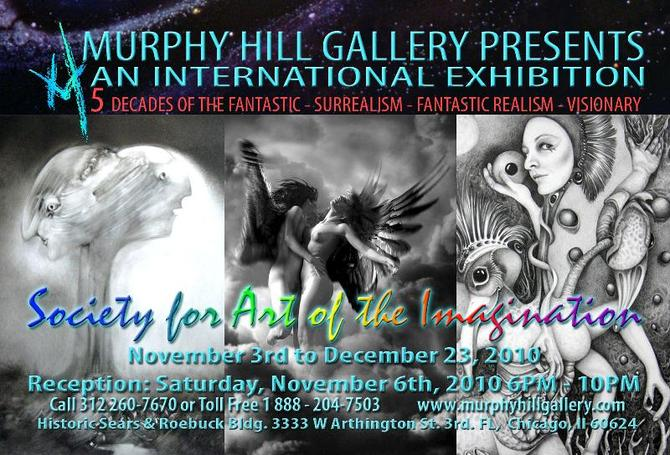 5 DECADES OF THE FANTASTIC - SOCIETY FOR ART OF THE IMAGINATION - MURPHY HILL GALLERY, CHICAGO