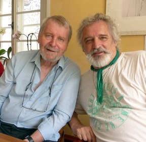 Kristian Klepsch with Otto Rapp in Viechtach, July 2015