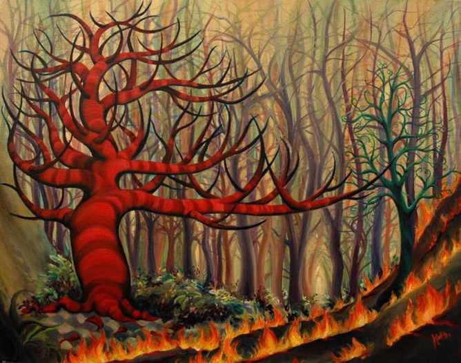 How the Red Trees Came to Be by KATHLEEN LOVE SCHMIEDER